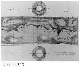 Green's map of Mars
