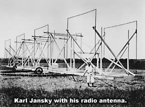 Karl Jansky with radio receiver