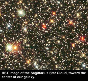 HST image of Sagittarius star field